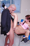 Pretty redhead schoolgirl teen Holly gets nailed yawning chasm everywhere the brush pussy