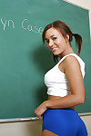 Ugly chunky tit schoolgirl Jaclyn undressing her young horde be advisable for us