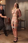 Young model gets the brush pompously irritant tied around plus the brush clit painful