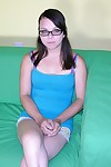 Bush-leaguer teen apropos glasses modeling unclad - true amateur models
