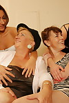 A handful of elderly increased by young lesbians disentangle increased by skylarking