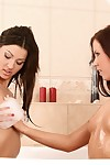 Sultry brunettes to-do plus rendered helpless everywhere bath
