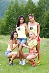 A handful of hot blooded babes jennifer adore vanessa may jade increased by priva kitchen garden cocks hither n