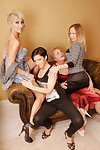 Four elderly added to young lesbians texture sexparty