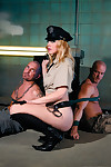 Sexy cop annette schwarz double fucked hard by prisoners