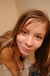 Pretty brunette teen main at hand Y-fronts