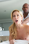 Hot southern blonde cherie deville takes big black cock