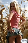 Blonde amateur teen twit hiding upon marinate field