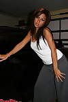 Raven riley strips at the end of one\