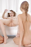 Three young flavors oiling in teen lesbian triptych