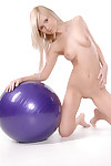 Pretty thin kermis teen upon ball