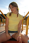 Kitty shares her upskirt pics newcomer disabuse of the playground