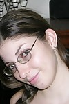 Amateurish murkiness freckled element teen wearing glasses