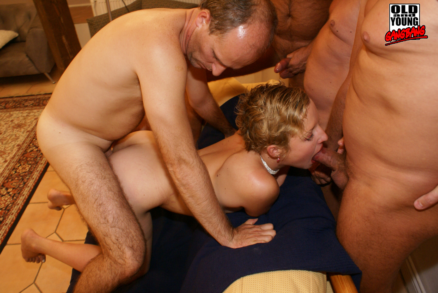Shy coed gangbang — photo 9
