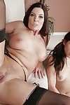 Mom together with daughter sharing cock round hot trio fake