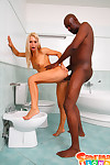 Teen flaxen-haired girl sabrina white-headed fucked by big dark-skinned cock in inhume