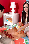 Teen inveterate fucked in chess game